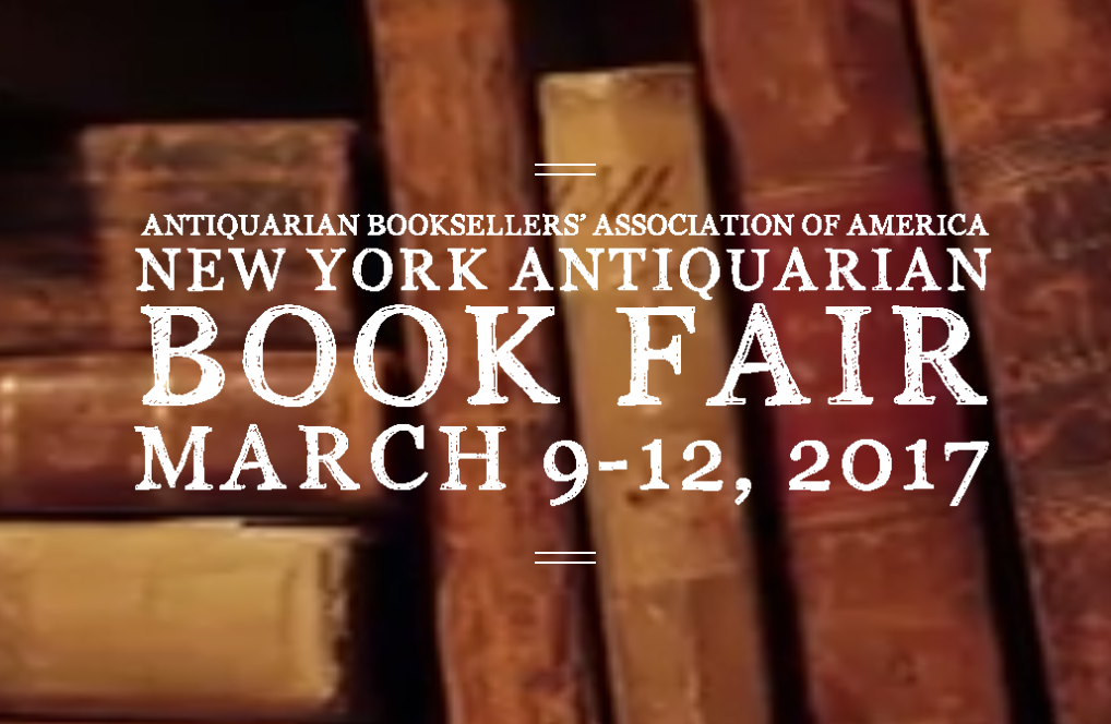 Schulson Autographs is exhibiting at the 2017 New York Antiquarian Book Fair
