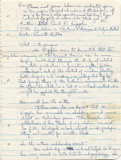 Autograph Manuscript Signed, 4to, 12 pp., n.p., n.d. ROSS MACDONALD, PSEUDONYM FOR KENNETH MILLAR.