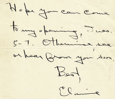 Typed Letter Signed and Autograph Letter Signed, n.d., New York City. ELAINE DE KOONING.