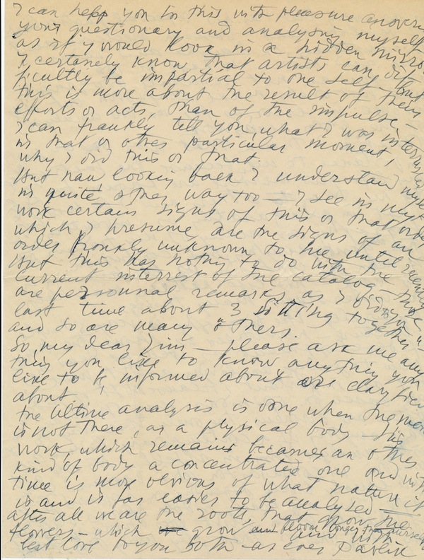 Substantial and scarce Autograph Letter Signed, to his biographer James Thrall Soby, 4pp on two 4to sheets, New York, Nov. 6, 1947. PAVEL TCHELITCHEW.