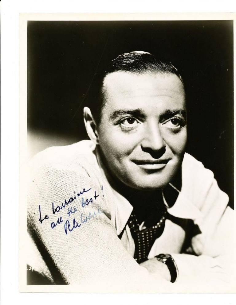 Handsome Signed Photograph, 8 x 10, black and white, ca 1940s. PETER LORRE.