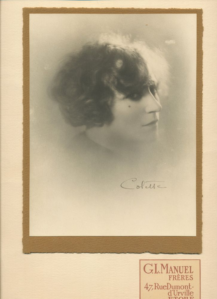 Signed Portrait Photograph and Autograph Letter Signed, in French, rue de Beaujolais, n.d. SIDONIE-GABRIELLE COLETTE.