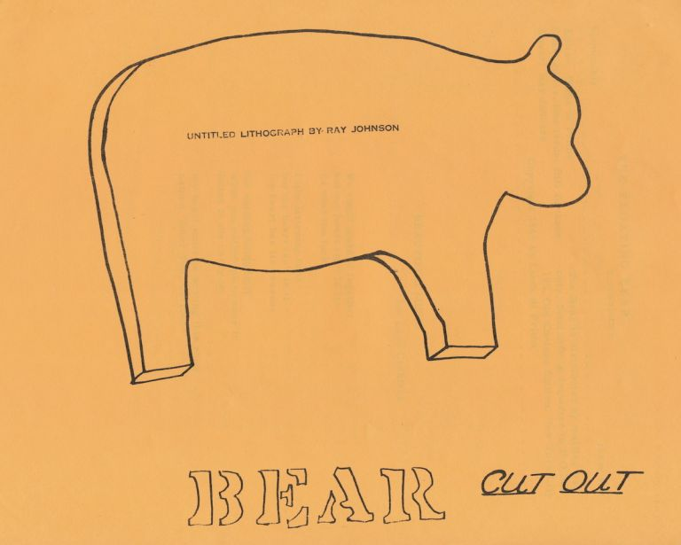 """The Beat Newsletter, """"Floating Bear."""" Collection of 19 separate issues includes #9 signed by William Burroughs. Issue #9 is considered one of the best known of the run because it includes Burroughs' article, """"Roosevelt after Inauguration."""" Two issues of #23 brings total number of issues in the collection to 20. Issue numbers with typed page of journal as cover: 3,9,10,12,13,18,19,20,21,22,23 (2 copies). The following issues include illustrated covers: 28,29,30,31,33,34,35,36,37. Issue #34 includes a poem by Philip Lamantia and a story by Johannes Koenig. We include as separate sheets, the typed poem signed by Philip Lamantia on onion skin paper, and the typed article signed by Koenig. Each issue is comprised of copied typed pages of heavy stock paper, two-sided, stapled together. WILLIAM BURROUGHS FLOATING BEAR NEWSLETTER. DIANE DI PRIMA, AMIRI BARAKA, LEROI JONES, Beat Newsletter."""