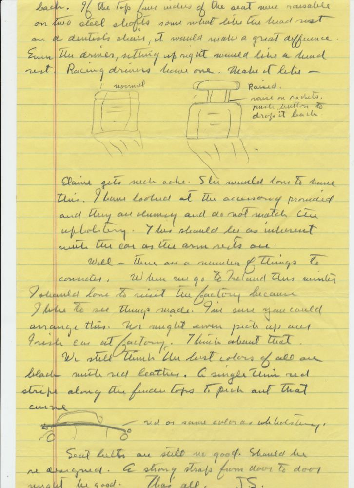 "Autograph Letter Signed ""J. S."", 5 pp. on yellow lined pages, in pencil, Sag Harbor, June 30, 1965. JOHN STEINBECK."