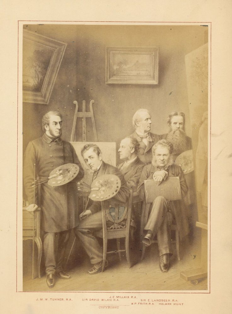 """Part I offered here includes five albumen prints mounted to boards, of """"Orators, Statesmen, Authors, Novelists, Artists, Philosophers."""" """"English Celebrities of the Nineteenth Century."""" London PHOTOGRAPH ALBUM, Hughes, 1876 Edmonds."""