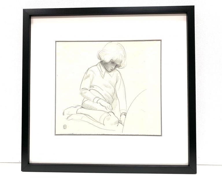 Pencil sketch on artist's paper, 9.5 x 8.5, bearing Kent's circular estate stamp in lower left and unsigned. ROCKWELL KENT.