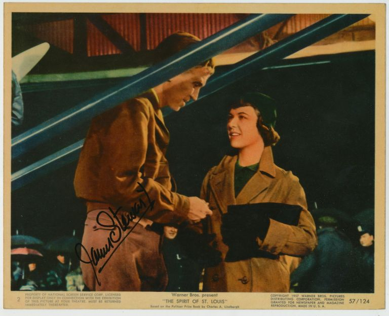 Photograph Signed, in color, 4to, n.p., 1957. JAMES STEWART.