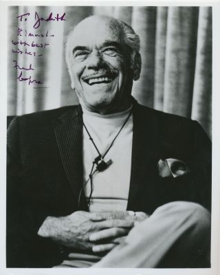 Photograph Signed, 4to, n.p., n.d. FRANK CAPRA