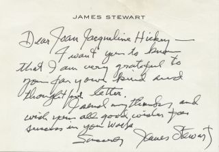 Autograph Letter Signed, on personalized note card stationery, Beverly Hills, CA., February 11,...