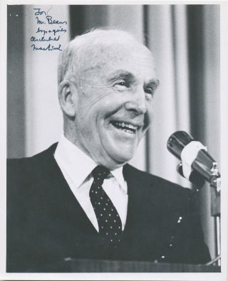 Photograph Signed, 4to, n.p., n.d. ARCHIBALD MACLEISH.