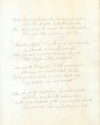 Excellent and scarce Autograph Manuscript Signed, 4 pages 4to, n.p., Sept. 1877.