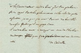 Autograph Letter Signed, in French, 8vo, n.p., n.d. AUGUSTIN PYRAMUS DE CANDOLLE
