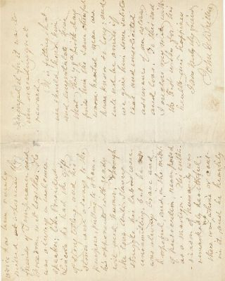 Autograph Letter Signed, three pages 8vo, Centre Harbor, N.H. Written as Quaker date of 7th mo., 20, 1887 (July 20, 1887)