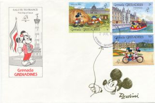 Mickey Mouse Original Drawing Signed, on a First Day Cover , 8vo, postmarked Hansel And Gretel...