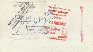 Document Signed, oblong 8vo, endorsed March 28 (sold) and April 3, 1967.