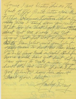 Autograph Letter Signed , 4 to, n.p., n.d. but ca 1958. BILLIE HOLIDAY