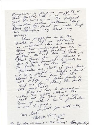Autograph Letter Signed, 6 pp on 6 separate sheets, 4to, n.p. (postmarked Culver City,...