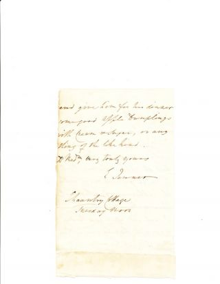 Superb Autograph Letter Signed, 2 pp, on one page, 8vo, Chaunty Cottage, Thursday noon, n.y. (ca 1800-15). EDWARD JENNER.