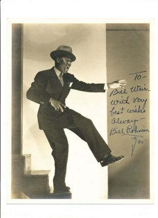 "Signed and Inscribed Photograph by Hurrell, 4to, 1930. BILL ""BOJANGLES"" ROBINSON"