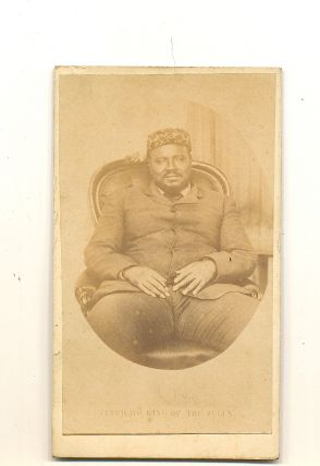 Sepia toned Carte-de-Visite Photograph, unsigned. LAST KING OF THE ZULU NATION CETEWAYO.