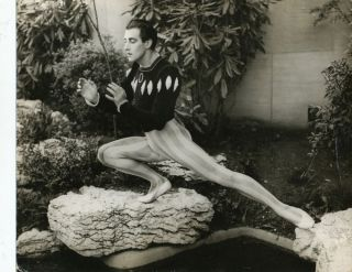 Handsome Photograph, gelatin silver print, of Anton Dolin in costume for his role in the ballet,...