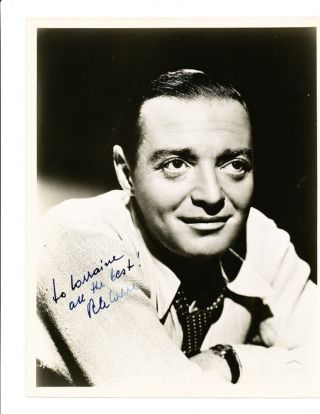 Handsome Signed Photograph, 8 x 10, black and white, ca 1940s. PETER LORRE