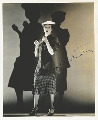 Photograph Signed, 8 x 10, sepia, glossy, finish, n.p., n.d. ELSA LANCHESTER.