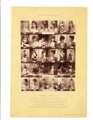 Original Photographic Proof Sheet of Nellie Melba, Sigrid Arnoldson, and Marthe Brandes.,...