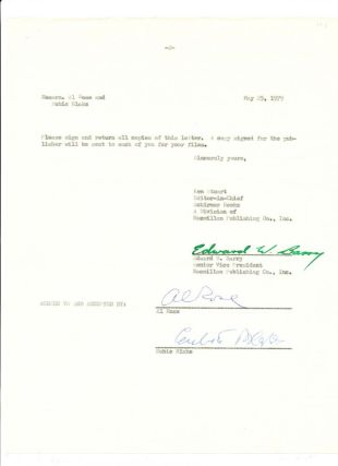 "Typed Document Signed, on ""Macmillan Publishing Co."" stationery, 2 separate 4to pages, New York,..."