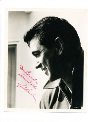Photograph Signed, black and white matte finish, 8 X 10. ROCK HUDSON.