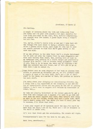 Typed Letter Signed, folio, Aleutians, March 18, 1945
