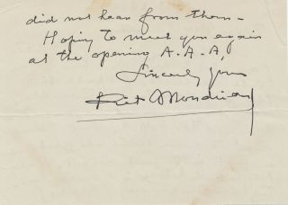 Rare Autograph Letter Signed, in English, 2 pp on one 8vo sheet, accompanying signed envelope...