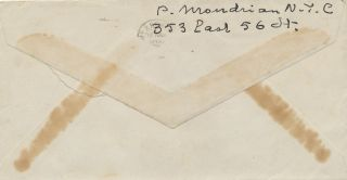 Rare Autograph Letter Signed, in English, 2 pp on one 8vo sheet, accompanying signed envelope postmarked, New York, Feb. 28, 1943.