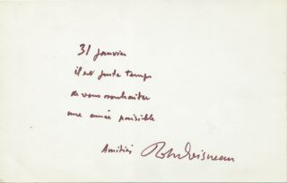 Autograph Note Signed on a gelatin silver print made from a 1900 negative, produced about 1965,...