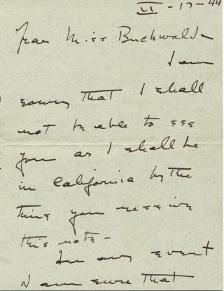 Autograph Letter Signed, 3 adjoining pages 8vo, n.p. (but postmarked Hartford, Connecticut),...