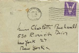 Autograph Letter Signed, 3 adjoining pages 8vo, n.p. (but postmarked Hartford, Connecticut), February 17, 1944.