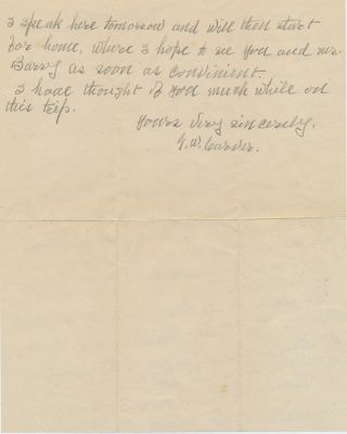 Autograph Letter Signed, 2pp on one sheet, 4to, Nov. 23, 1930, Cleveland, Ohio. GEORGE WASHINGTON...