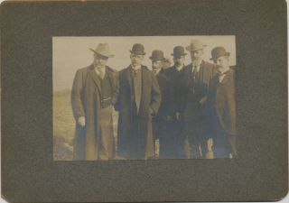 Photograph with President Roosevelt and others, described and dated on verso, 1902. THEODORE ROOSEVELT, ROOT. ELIHU.