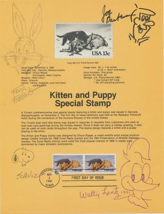 Signed Original Cartoon Sketches by the creators of their well known cartoon characters, 8 x 10...