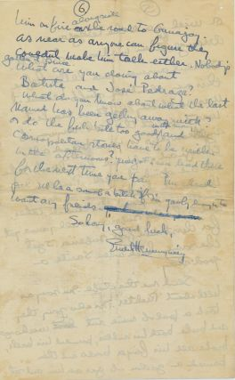 """Important Autograph Letter Signed, 6 pp on 3 sheets, 4to, Bimini, BWI, June 28, 1936, with transmittal envelope, """"your press release"""" written on envelope flap."""