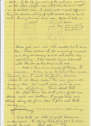 "Autograph Letter Signed ""J. S."", 5 pp. on yellow lined pages, in pencil, Sag Harbor, June 30,..."