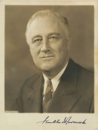 Photograph Signed as President. FRANKLIN DELANO ROOSEVELT.