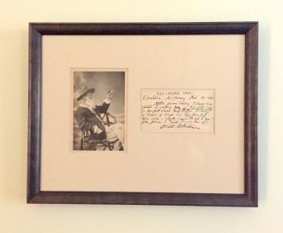 "Autograph Letter Signed mentioning ""Leaves of Grass"", on post card, Camden, New Jersey, Feb. 18,..."