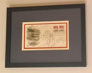 Original Signed Drawing, in pencil honoring the American Flag, , on First Day Cover 1985. ART...