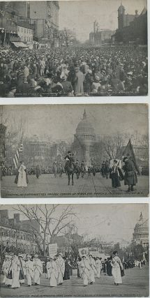 Five Post Cards of the March 3, 1913 Woman's Suffrage March on Washington.