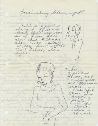 Outstanding Autograph Letter Signed, illustrated with 5 sketches one of which Joplin describes...