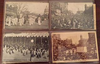 38 Postcards including from the American and British Woman's Suffrage movements. Available as a collection and as individual cards. AMERICAN, BRITISH WOMAN'S SUFFRAGE POSTCARD COLLECTION.