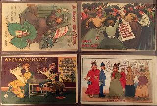 38 Postcards including from the American and British Woman's Suffrage movements. Available as a collection and as individual cards.