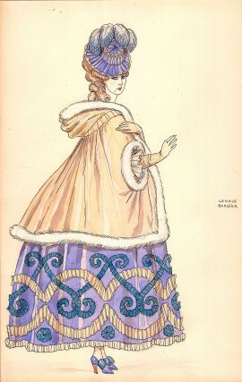 Two Costume Designs, Watercolor, Pen and Ink, Signed.