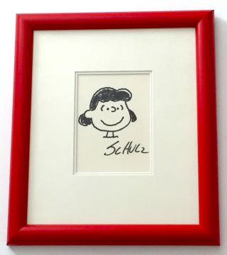Lucy, Original Sketch Signed and Framed. CHARLES SCHULZ.